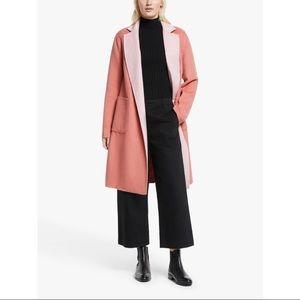 NWT Ralph Lauren Pink Reversible Wool Blend Coat